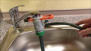 anleitung gartenschlauch an wasserhahn waschbecken oder spülbecken anschließen