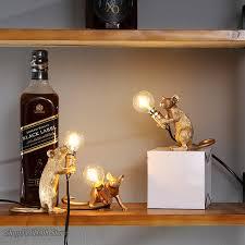 moderne mini harz maus led tisch len für wohnzimmer schlafzimmer nordic stand schreibtisch licht leuchte loft wohnkultur studie leuchten
