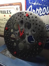 Wall Clock made from Used Harley Davidson Rotor No longer