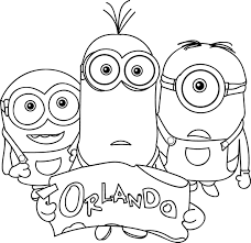 Reading Minions Orlando Coloring Page Wecoloringpage