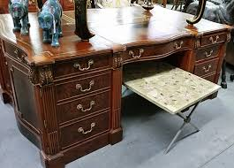 Maitland Smith Secretary Desk by Backs Of Furniture Reveal Little About Their Looks Auction Finds
