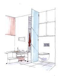 zeichnung badezimmer mit wc badewanne bild kaufen