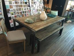 Made In Quebec Maple And Steel Dining Table Driftwood Stainnbsp 72x38