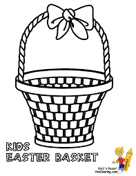 Handsome Easter Basket Coloring Pages With Page