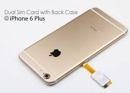 Dual Sim Card Adapter with Back Case for iPhone 6 Plus iPhoneNess