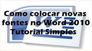 Adicionar Tipo Letra Word