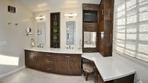 Small Bathroom Corner Vanity Ideas by Furniture Gorgeous Dark Wood Makeup Vanity In Master Bathroom