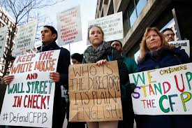 consumer bureau protection agency tapped foe of u s consumer protection agency assumes its helm