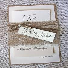 Rustic Wedding Invitation Kits 7326 Plus Lace