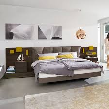 100 Hulsta Bed Double Bed Contemporary Upholstered With Headboard LUNIS