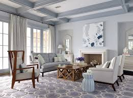 gray ceiling beams living room style with coffered ceiling