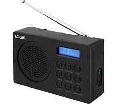 l2dab16 portable dab fm radio black