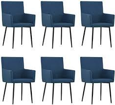 vidaxl 6x esszimmerstuhl mit armlehnen küchenstuhl lehnstuhl