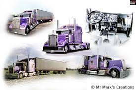 Kenworth Semi Truck Collage – Mr Mark's Creations