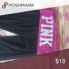 Pink Victoria Secert Zebra Lace Foldover Flare