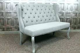 Upholstered Dining Bench With Back Gorgeous