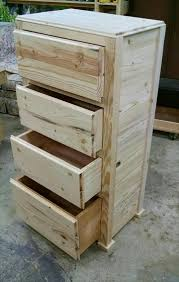 Rustic Pallet Drawer Tower
