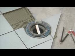 toilet flange level with tile