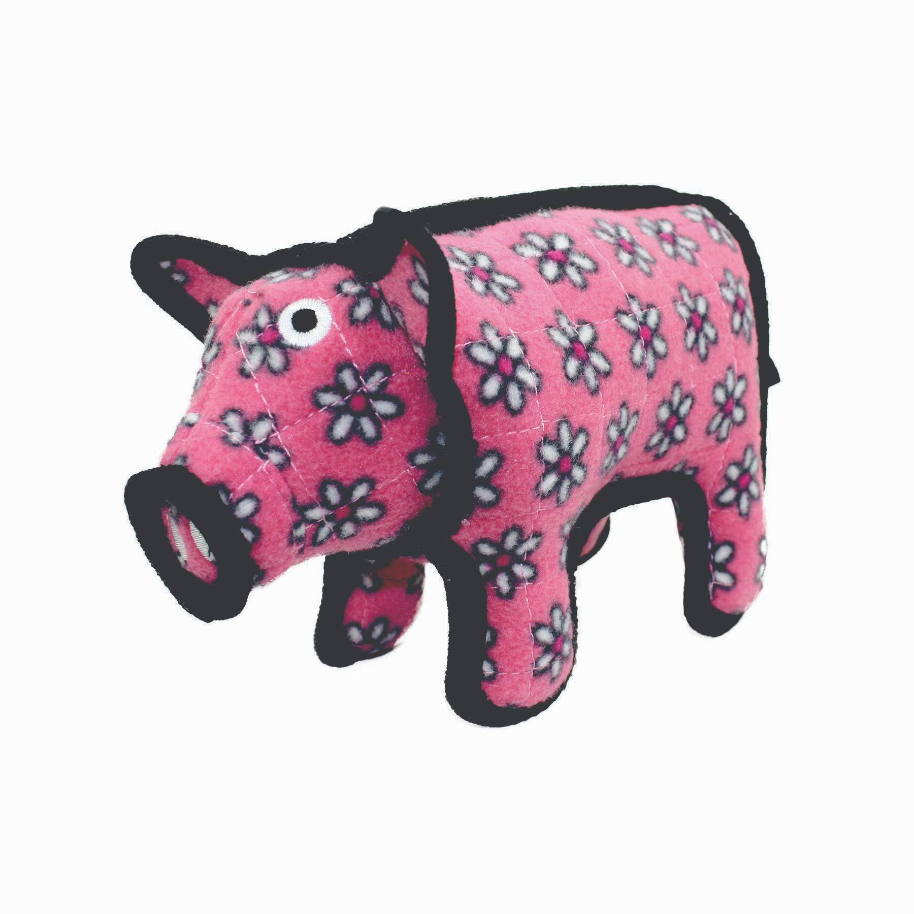Tuffy Barnyard Pig Squeaky Dog Toy