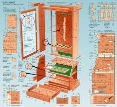 Diy Gun Rack Plans by Plans Hidden Gun Cabinet Plans Diy Free Download Van Bunk Bed