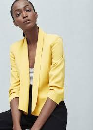 ruched sleeves blazer woman mango thailand and blazer jacket