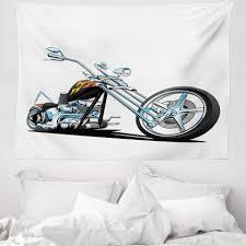 wandteppich aus weiches mikrofaser stoff für das wohn und schlafzimmer abakuhaus rechteckig männlich amerikanischer motorrad sport kaufen