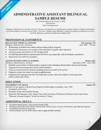 Administrative Assistant Bilingual Resume Resumecompanion