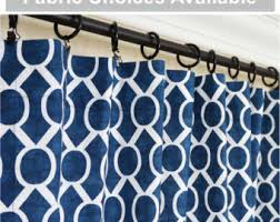 Navy Geometric Pattern Curtains by Purple Lavender Aqua Navy Curtain Panels Blue Damask Window