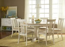 5 Piece Oval Dining Room Sets by Oval Pedestal Dining Table With Solids Rubberwood Weathered Sand