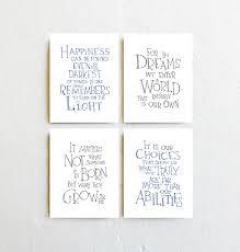 Harry Potter Nursery Decor Albus Dumbledore Quote