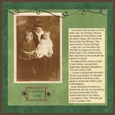 Heritage Scrapbooking Keep The Story Brief