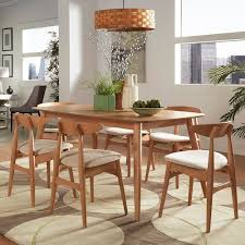 HomeVance Andersen Long Dining Table Chair 7 Piece Set