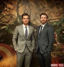 Chris Evans Sebastian Stan Stop By Marvel HQ
