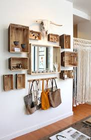 How To Use Wooden Crates On The Wall