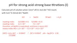 100 Ph Of 1 PH For Strong Acid And Strong Base Titrations Secondary