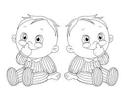 Gallery For Twin Baby Coloring Pages