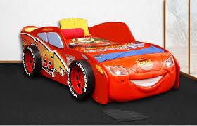 chambre enfant cars lit cars flash mcqueen avec éclairage led en mdf amazon fr
