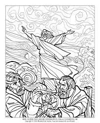 BIBLE COLORING PAGE 1 Jesus Walks On Water