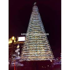Lighted Spiral Christmas Tree Outdoor by Christmas Tree Giant Outdoor Commercial Lighted Christmas Tree