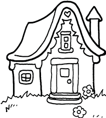 Gingerbread House Coloring Pages Kids Haunted Pictures Of Anubis Monster Full Size