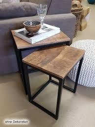 couchtisch set 2 stück wohnzimmer tisch satztisch dallas metall gestell schwarz oder weiß