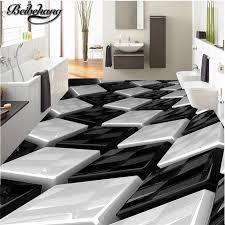 beibehang custom boden zeichnung 3d stereo schwarz und weiß dreidimensionale box kreative boden wohnzimmer bad dekoration