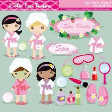 Spa Party Digital Clipart Girls Cute Clip