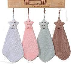 lifewheel niedliche sternförmige handtücher saugfähig zum aufhängen handtuch schönes geschirrtuch für küche badezimmer 4 stück