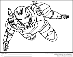 The Avengers Coloring Pages Ironman