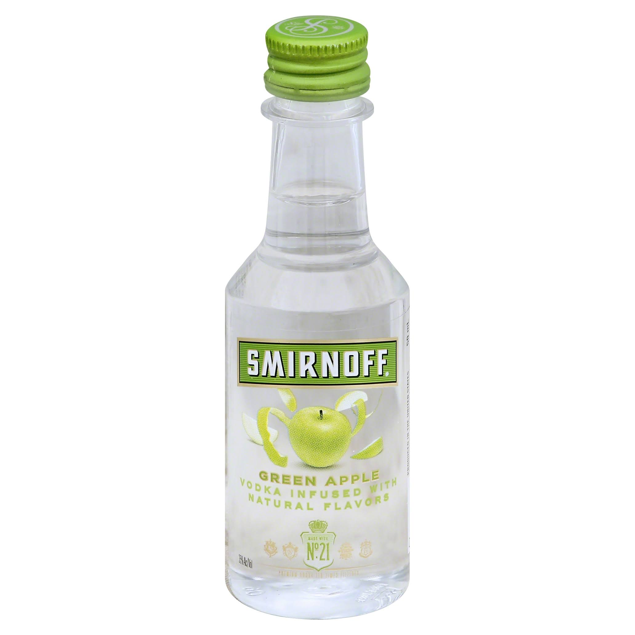 Smirnoff Twist of Green Apple Vodka - 50 ml bottle