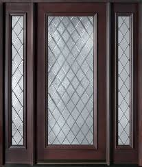 Custom Wood Exterior Doors 1322 Glass Panel Reliable And Energy