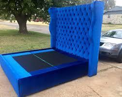 Blue Velvet King Headboard by Blue Headboard Etsy