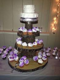 Cake Stand From Tree Slices At My Wedding Super Easy To Make And It Separates Into