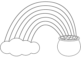 Rainbow Coloring Pages With Pot Of Gold Archives Throughout And
